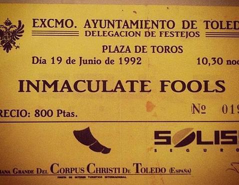 Se cumplen 22 años del concierto de Inmaculate Fools en Toledo