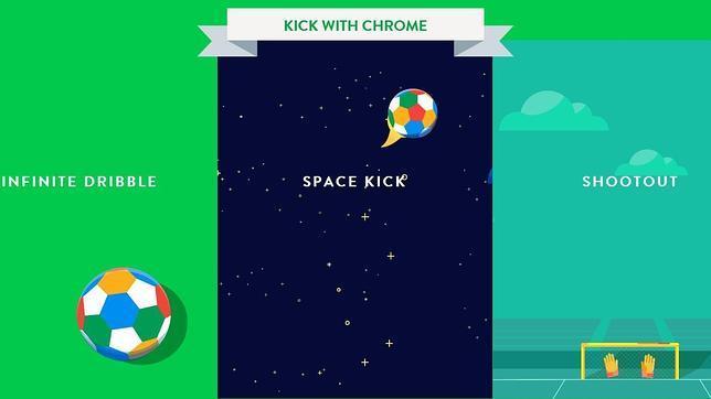 Google permite jugar al fútbol con Chrome