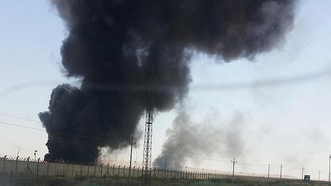 La refinería de Baiji el pasado 19 de junio