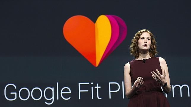 Ellie Powers, jefe de producto de Google Play, durante la presentación de su nueva aplicación