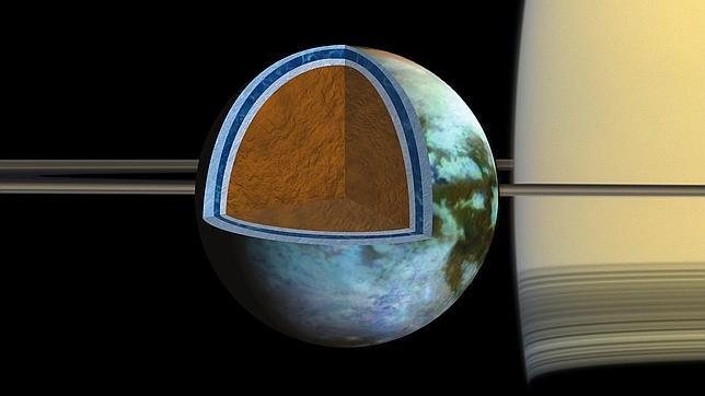 El océano subterráneo de Titán, tan salado como el Mar Muerto