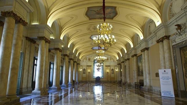 Pasillos del Tribunal Supremo durante una jornada de puertas abiertas