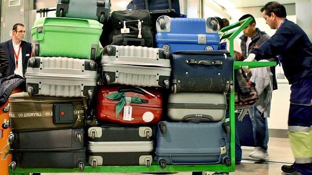 Maletas en el aeropuerto de El Prat (Barcelona)