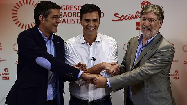 Sánchez, Madina y Tapias: lo que defiende cada candidato a liderar el PSOE