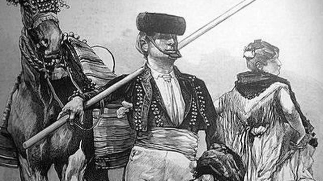 Representación de un «garrochista», los ganaderos que se enfrentaron a los franceses