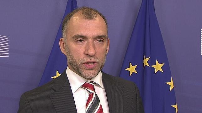 Olivier Bailly, en una reunión con los medios en Bruselas