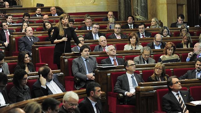 Una sesión en el Parlamento Catalán