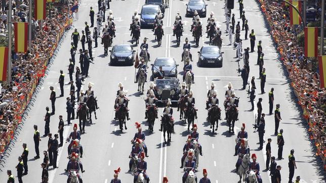 El gasto en seguridad de la proclamación de Felipe VI fue menor que el de una huelga general