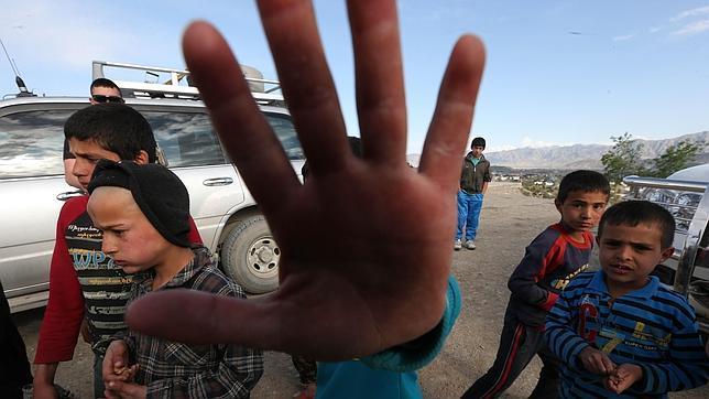 Un grupo de niños en Afganistán