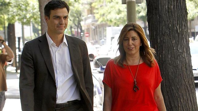 Sánchez inicia con Susana Díaz su ronda de contactos para negociar la nueva Ejecutiva