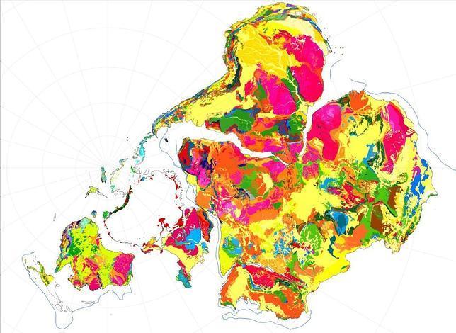 Nuevo mapa del supercontinente Gondwana