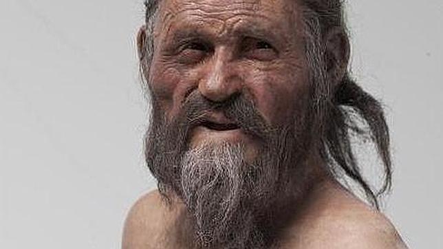 Recreación del rostro de Ötzi, el «hombre de hielo»