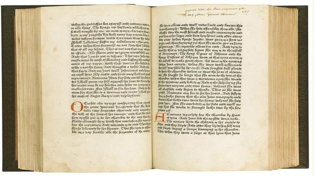Venden por 1,37 millones de euros el primer libro impreso en inglés