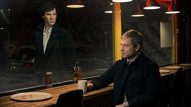Imagen de la exitosa serie «Sherlock» basada en las aventuras del detective y Dr. Watson