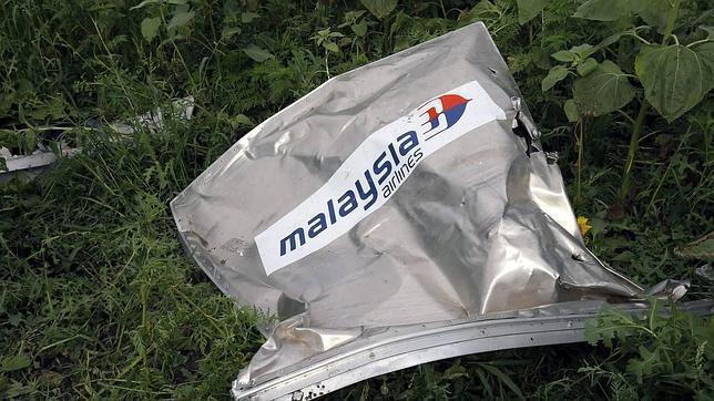 REstos del vuelo de Malaysia Arilines MH17