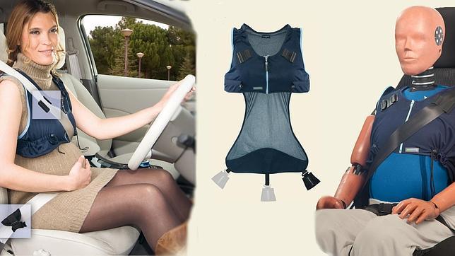 El chaleco «emobikids» aporta seguridad extra respecto a usar únicamente el cinturón de seguridad