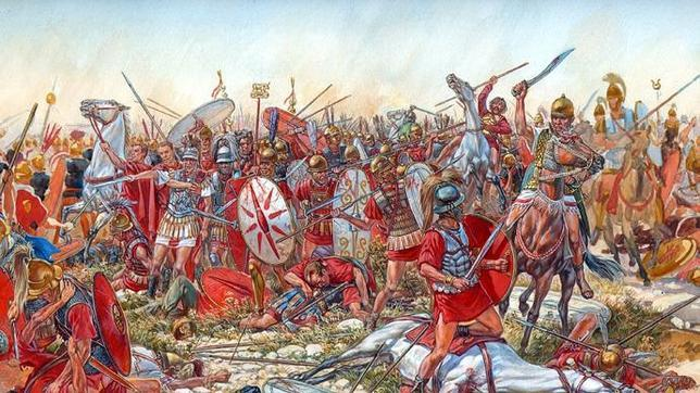 Batalla de Cannas, 216 a.C., dentro de la segunda Guerra Púnica