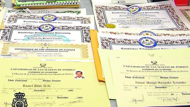 Más de 600 detenidos por la mayor red de falsificación de títulos