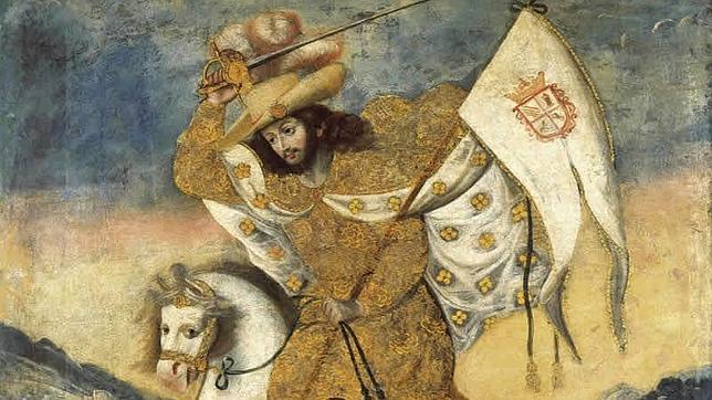 Santiago Apóstol representado como un guerrero medieval
