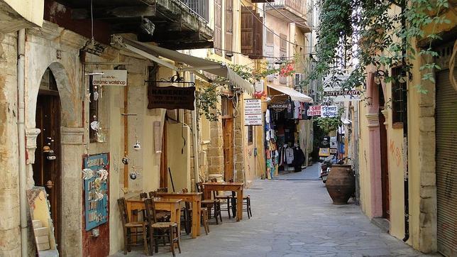 Calle típica de La Canea