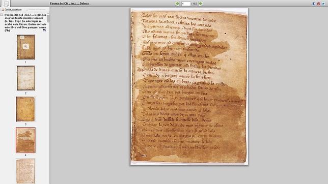 Así se digitalizó el Cantar del Mio Cid
