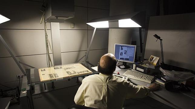 Escáner para digitalizar de la Biblioteca Nacional