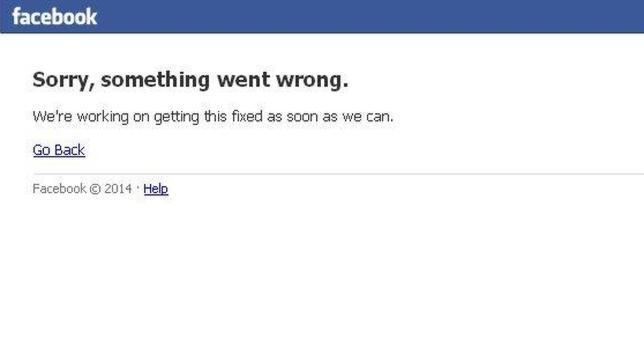 Facebook vuelve a funcionar tras tres horas experimentando fallos de conexión