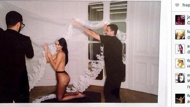 Kim Kardashian, desnuda para felicitar a su amigo, el diseñador Riccardo Tisci