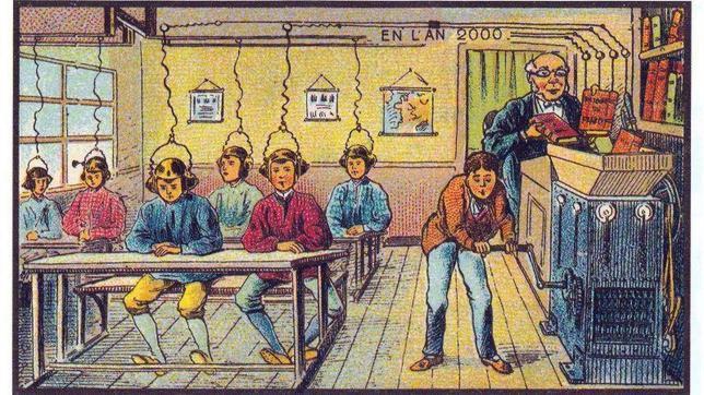 Policías con alas o paseos submarinos: así era el futuro imaginado por los visionarios de hace cien años