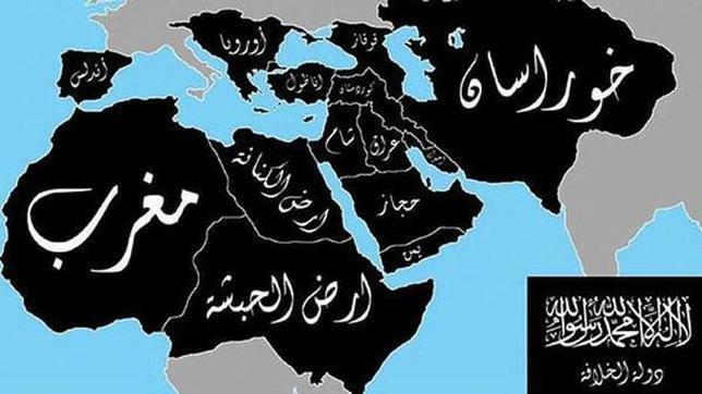 Estado Islamico Mapa Actual.Hasta Donde Llegarian Las Fronteras Del Califato Islamico