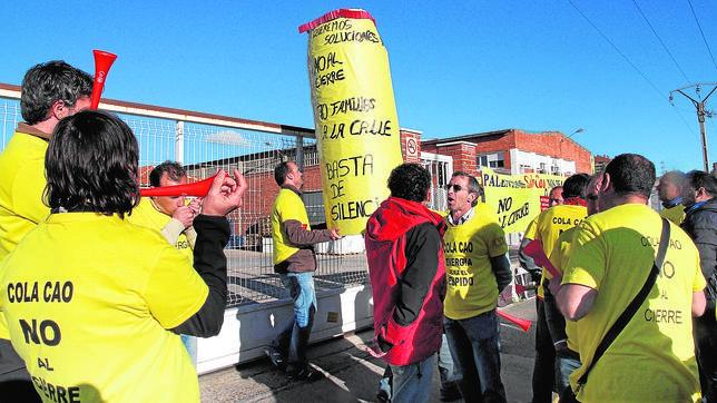 Imagen de archivo de una protesta de los trabajadores de Nutrexpa