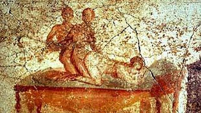 Una de las ocho escenas eróticas de las Termas Suburbanas de Pompeya