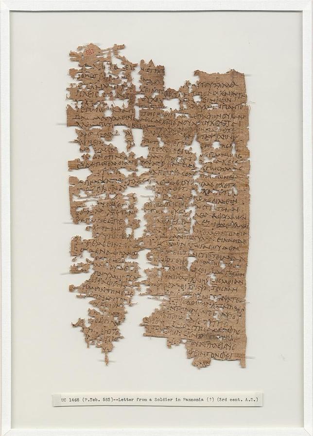 «Rezo día y noche por que estéis bien»: así es la carta hallada del legionario romano