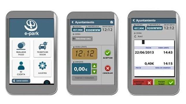 Capturas de las diferentes opciones que ofrece la aplicación móvil
