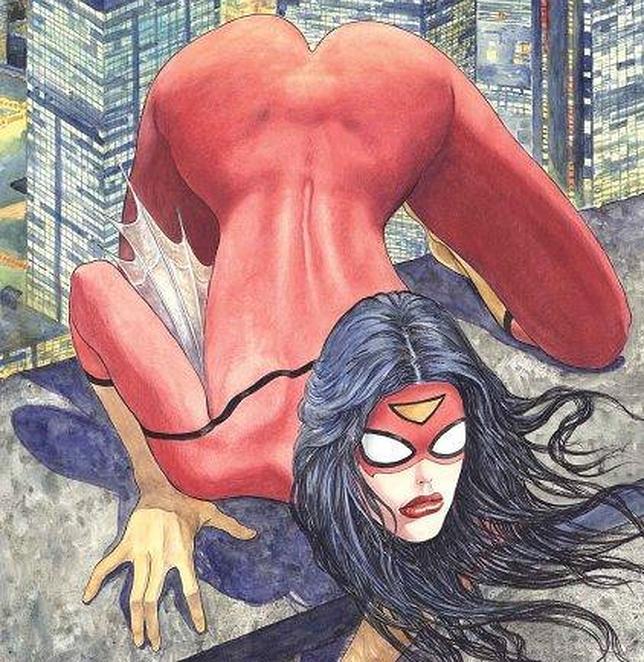 Spider-Woman, dibujo de Milo Manara