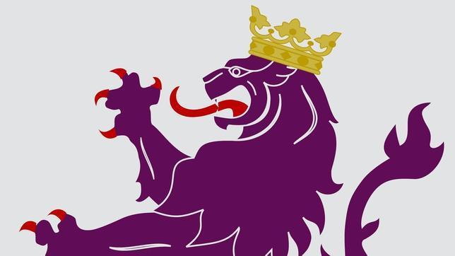 León color púrpura del Reino de León