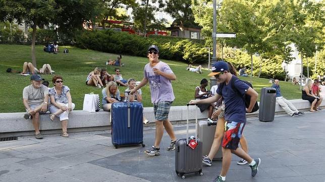 Turistas en la ciudad de Madrid