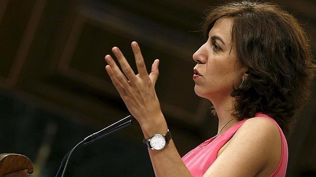 La diputada de UPyD, Irene Lozano, durante su intervención en un pleno del Congreso de los Diputados