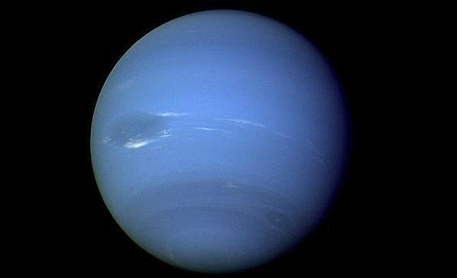 Neptuno, fotografiado por la Voyager 2