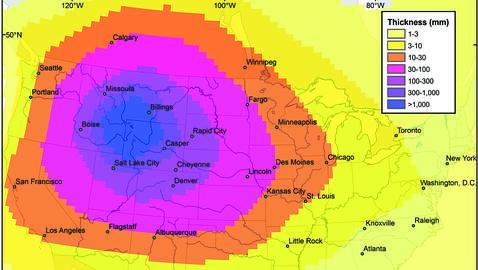 La «supererupción» del Yellowstone cubriría de cenizas toda Norteamérica