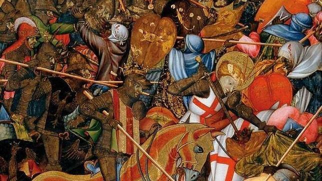 Pintura de la batalla de Alcoraz