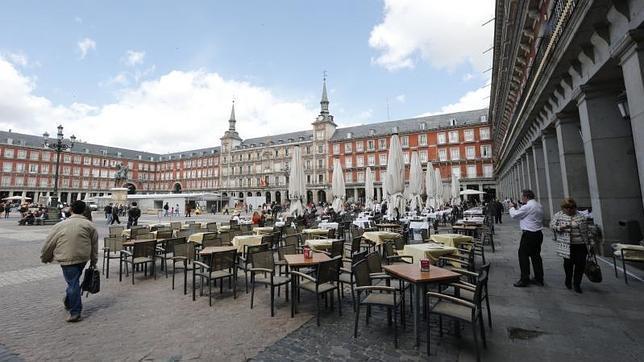 Una de las terrazas de la Plaza Mayor