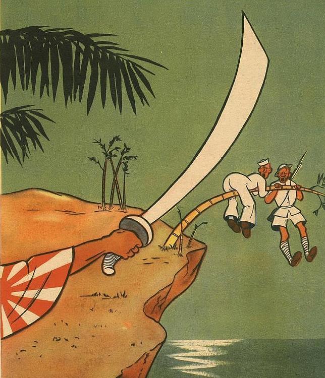 Japón conquistó Tailandia, Birmania, Malasia, Borneo, las Indis Orientales, Filipinas, Nueva Guinea, etc