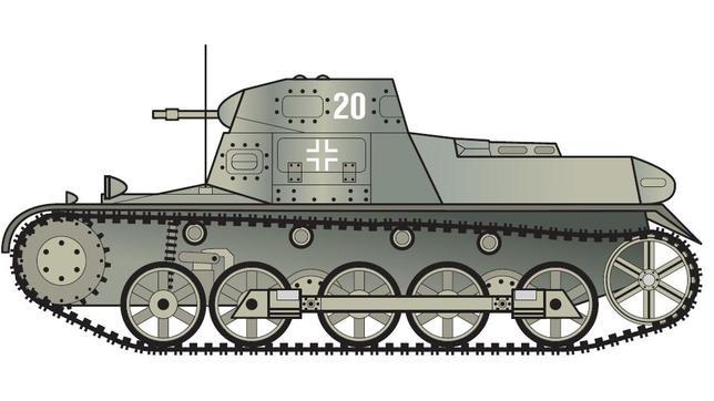El Panzer I tenía 13 mm de blindaje lateral, 8 mm de blindaje superior y estaba armado con dos ametralladoras del calibre 7,92 mm