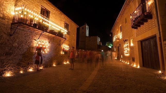Una imagen de la fiesta de las velas, en Pedraza