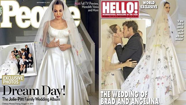 043ad5a36 El álbum de fotos de la boda de Angelina Jolie y Brad Pitt