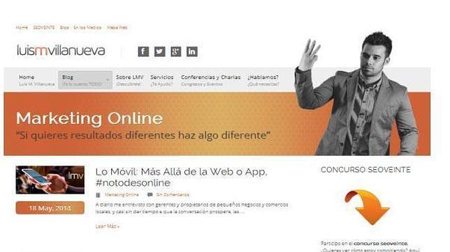 Captura de pantalla del blog de Luis Villanueva