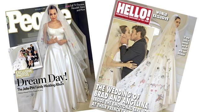 el original traje de novia de angelina jolie