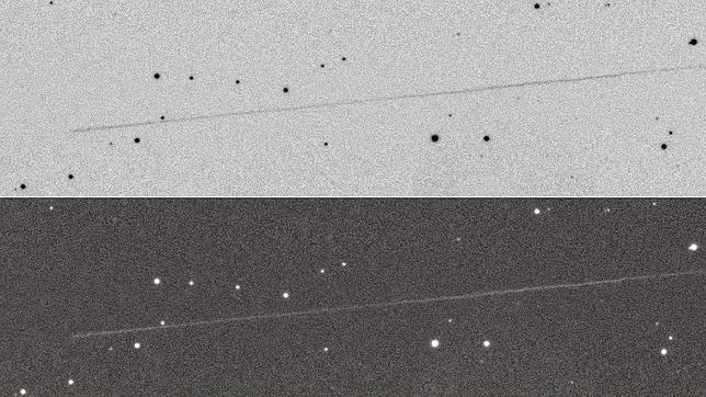 El asteroide 2014 RC, fotografiado durante su aproximación a la Tierra con un tiempo de exposición de un minuto