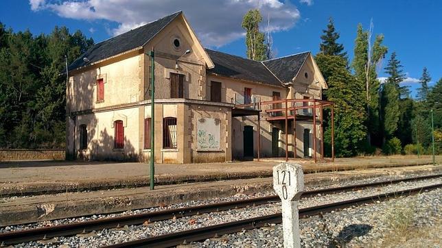 Estación de tren de Riaza, en la provincia de Segovia